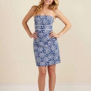 Vineyard Vines Strapless Conch Shell Print Dress